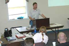 OAC staffer Chip Wolfe teaching at a training seminar